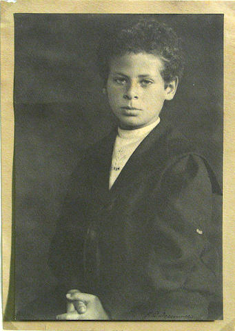 William E. Dassonville; Portrait of a Boy (possibly Allan Stein, Gertrude Stein's nephew);