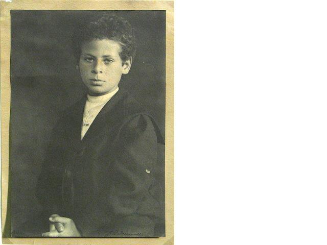 William E. Dassonville; Portrait of a Boy (possibly Allan Stein, Gertrude Stein's nephew);