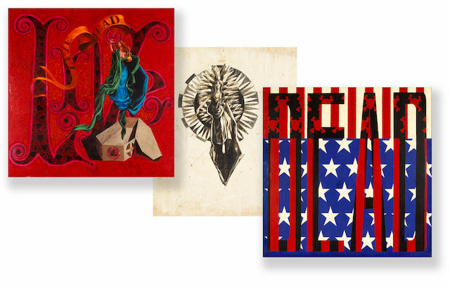 "A Bob Thomas group of original paintings created for The Grateful Dead album jacket ""Live/Dead,"" 1969"