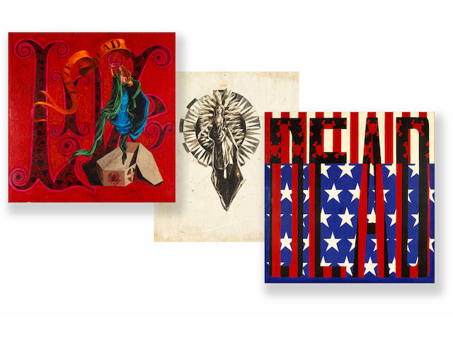 """A Bob Thomas group of original paintings created for The Grateful Dead album jacket """"Live/Dead,"""" 1969"""