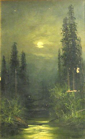 Frederick Schafer, Moonlit Landscape, o/c