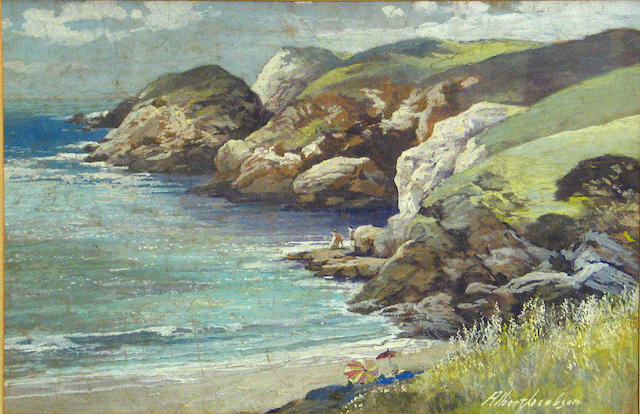 Albert F. Jacobson (American, 20th century) Summer day on the coast 12 x 18in