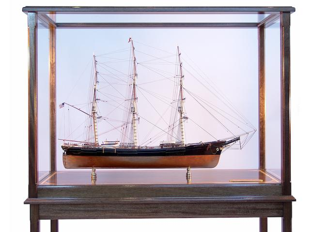 "A fine scale model of the Donald McKay built Boston Clipper ""Sovereign of the Seas"" 19 x 63 x 46in"