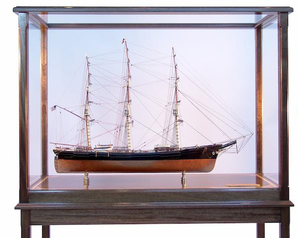 "A fine scale model of the Donald McKay built Boston Clipper ""Sovereign of the Seas"" 19 x 63 x 46in"