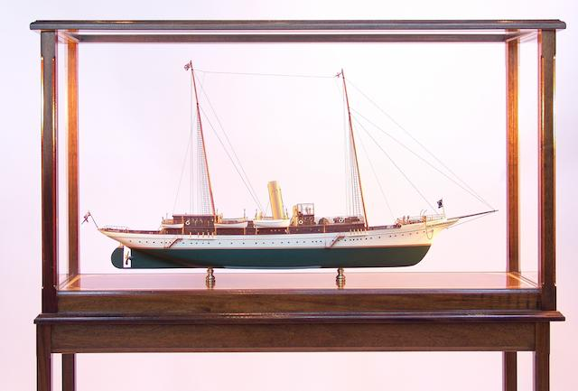"A model of Sir Thomas Lipton's steam yacht ""Erin,"" overall 49 x 15 x 58in"