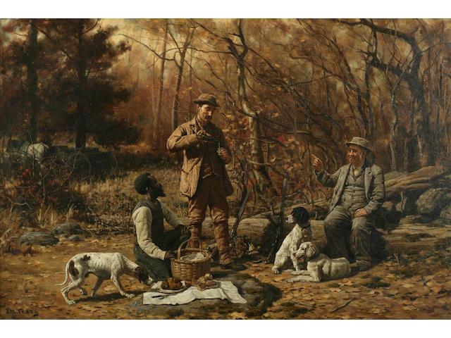 John Martin Tracy (American, 1843-1893) Hunter's Rest 24 x 36in