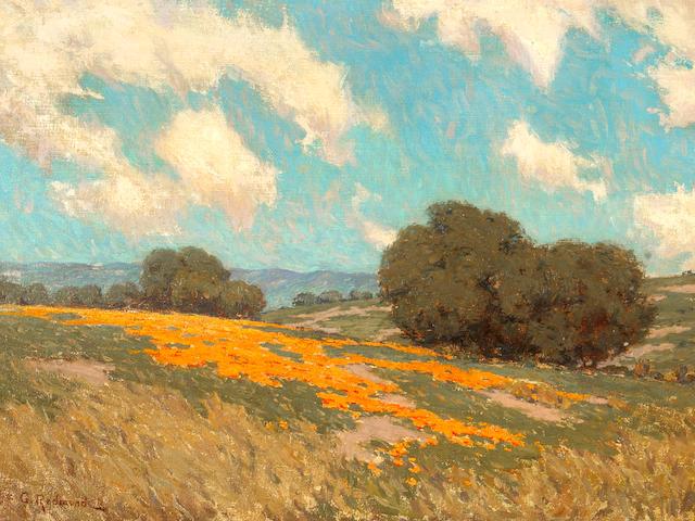 Granville Redmond  (1871-1935) California Poppies 12 x 16in