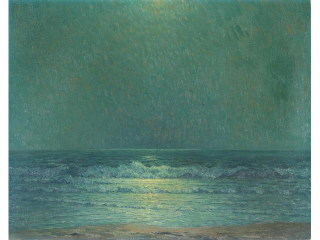 Granville Redmond  (1871-1935) Last Light at Low Tide 20 x 25in