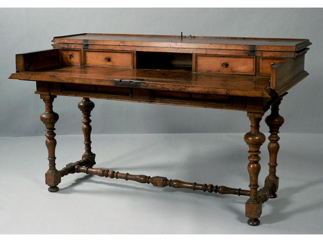 An Italian Baroque fruitwood secretary