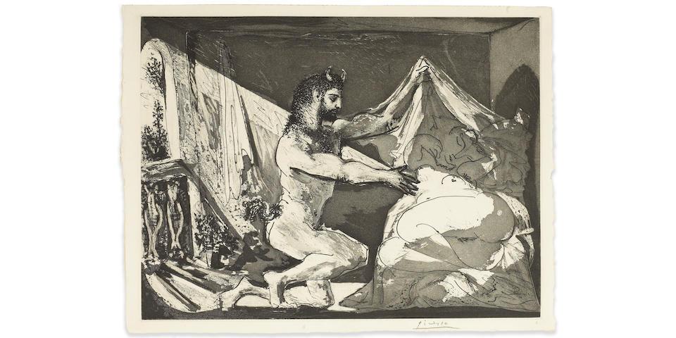 Pablo Picasso Faune dévoilant une Femme, Pl. 27, from La Suite Vollard;