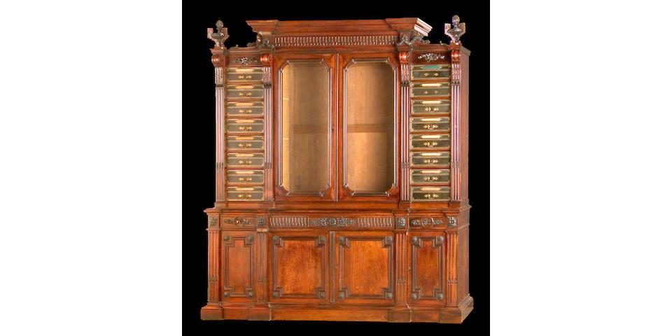 A Napoleon III palissander cartonnier cabinet <br>mid 19th century