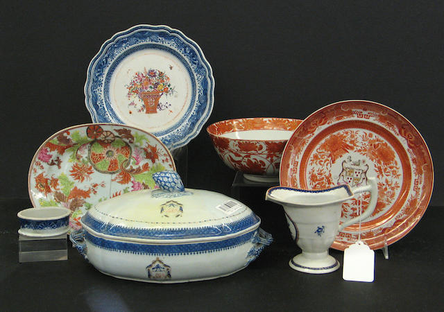 An assembled grouping of Chinese and Japanese porcelain