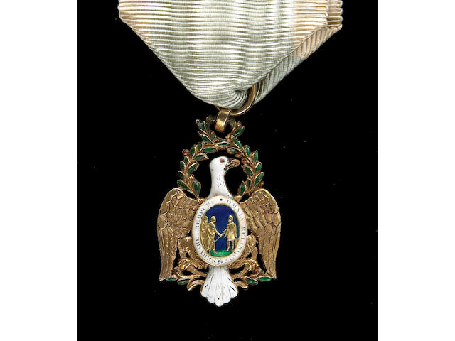 A fine early Society of the Cincinnati eagle badge