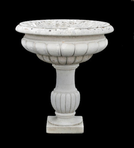 A Vicenza stone fountain on stand