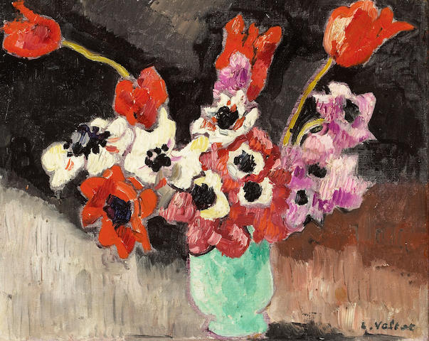 Louis Valtat (French, 1869-1952) Anemones 13 1/2 x 16 1/2in (34 x 42cm)