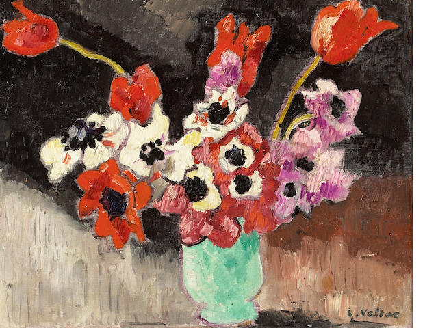 Louis Valtat (French 1869-1952) Anemones 13 1/2 x 16 1/2in (34 x 42cm)