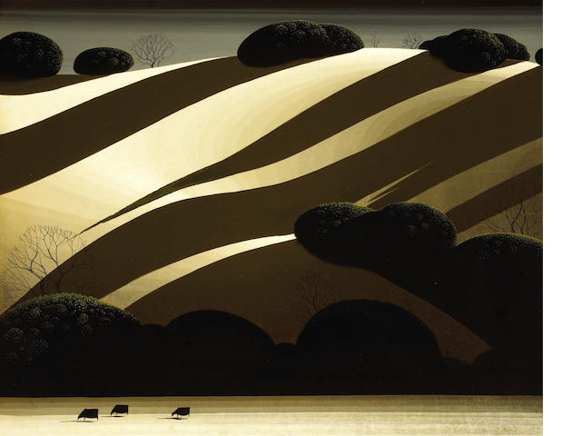Eyvind Earle (American, 1916-2000) Golden Autumn, 1975 16 x 20in (40.6 x 50.8cm)