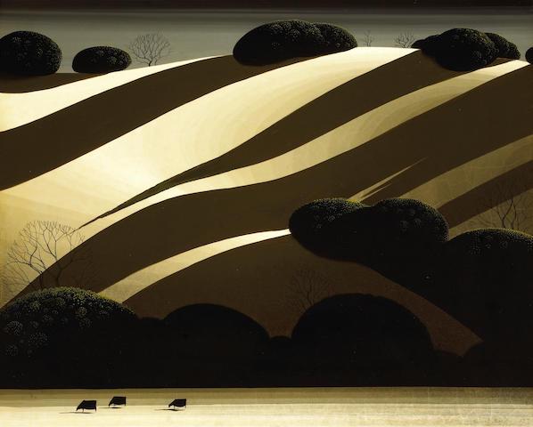 Eyvind Earle (American, 1916-2000) Golden Autumn, 1975 16 x 20in (40.6 x 50.8cm)