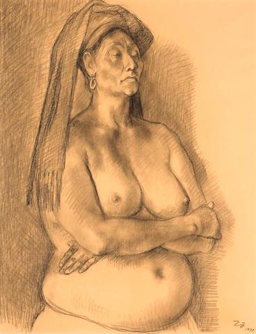 Francisco Zúñiga  (Mexican, 1912-1998) Torso Study, 1977 sight 24 1/2 x 19in (62.2 x 48.2cm)