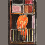 Manfred Schwartz (German/American, 1909-1970) The Window, 1953 22 x 14in (55.9 x 35.6cm)