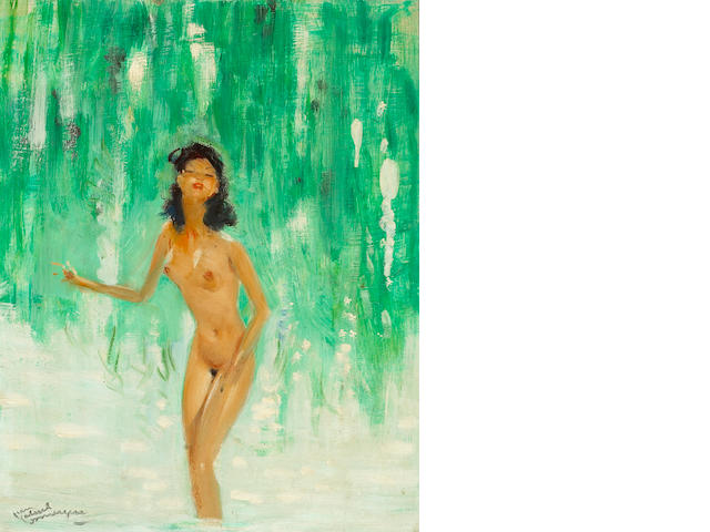 Jean-Gabriel Domergue (French 1889-1962)Naïade 16 X 13in (40.6 x 33cm)