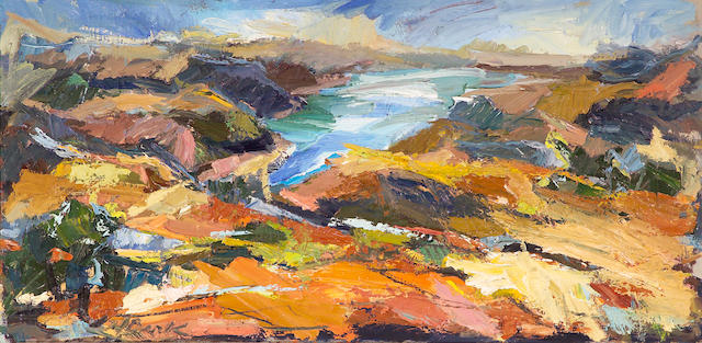 Henrietta Berk (American, 1919-1993) Orinda Hills 25 1/2 x 49 1/4in (64.8 x 125.1cm)