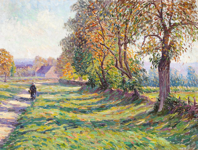 Albert Joseph (French, 1868-1952) Printemps en Bourgogne 18 1/4 x 24 1/4in (46.3 x 61.6cm)
