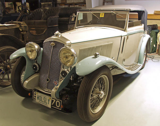 1935 Wolseley Hornet Special Drophead Coupe  Chassis no. 629/163 Engine no. 634/163