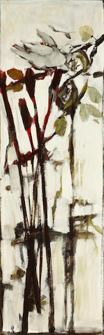 Viola Frey (American, 1933-2004) Dove and Thistle Pod, 1963 50 x 16 1/4in (127 x 41.3cm) unframed
