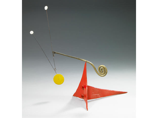 Alexander Calder (American, 1898-1976) Untitled (Standing Mobile), c.1964 7 1/2 x 7 x 4in (19 x 17.7 x 10cm)