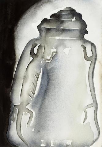 Francesco Clemente (Italian, born 1952) Vase, 1996 10 1/4 x 7 1/4in (18 X 12cm)