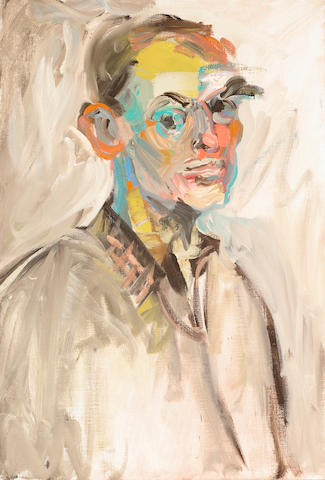 John Charles Haley (American, 1905-1991) Self-portrait 28 1/4 x 19in (71.7 x 48.2cm)