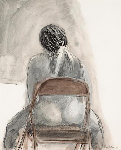 Paul Wonner (American, b.1920) Woman in Chair, c.1969  17 x 14in (43.2 x 35.5cm)
