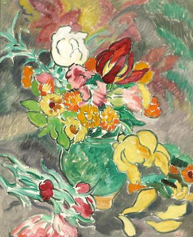 Louis Valtat, Vase de Fleurs en Printemps, o/c, 24 X 18 in.