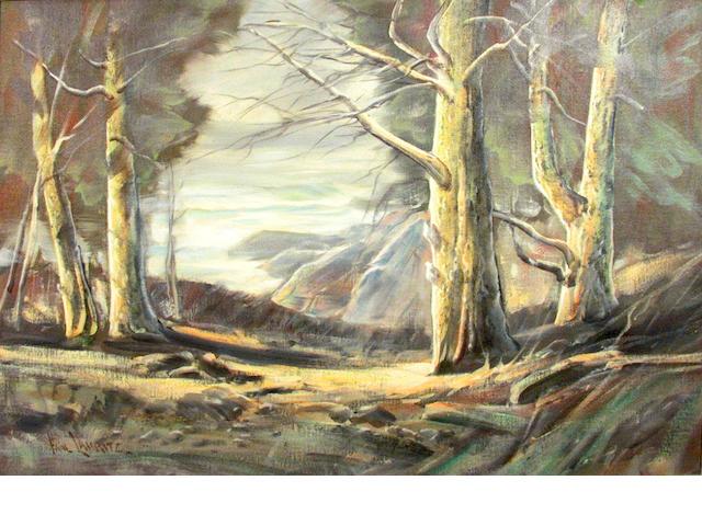 Paul Lauritz (Norwegian/American, 1889-1975) A Coastal Scene in California 24 1/4 x 34 1/4in