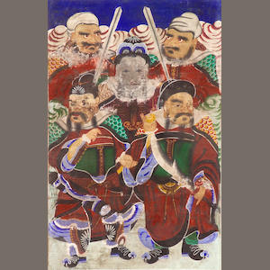 A Korean folk painting of divinities