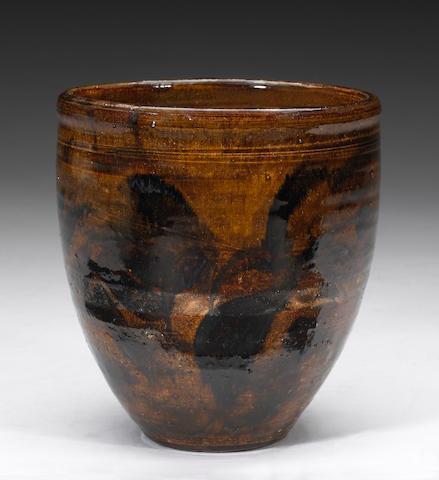 Viola Frey (American, 1933-2004) Ceramic jardinere height 8 1/4in