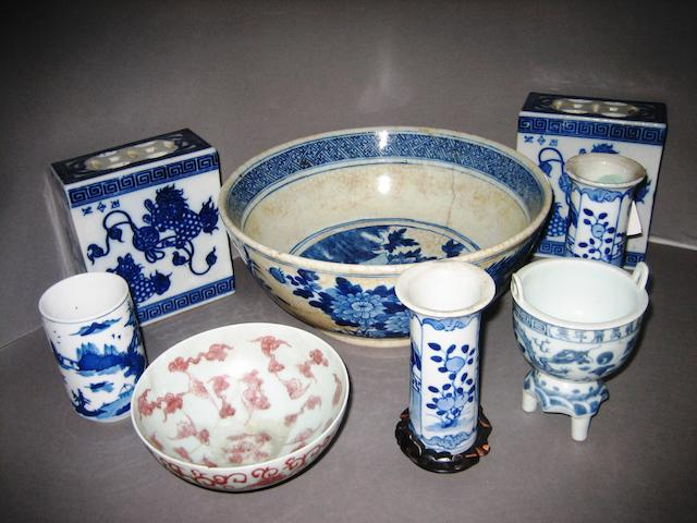Eight Chinese porcelains 19th and 20th Centuries