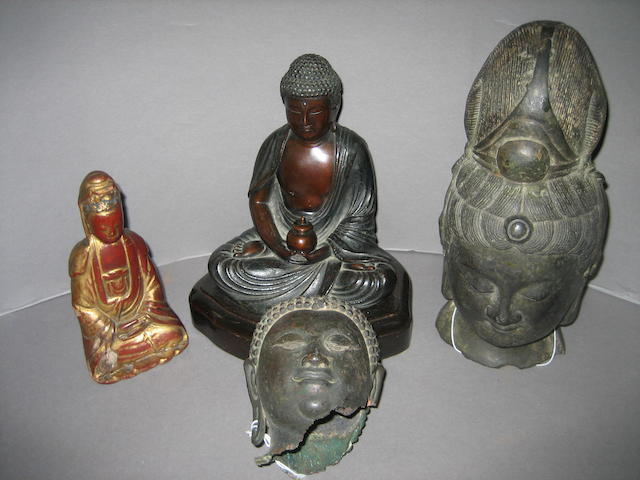 Four Buddhist sculptures