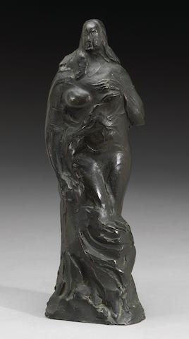 Gaston Lachaise (French, 1882-1935) Draped woman height 11in (27.9cm)