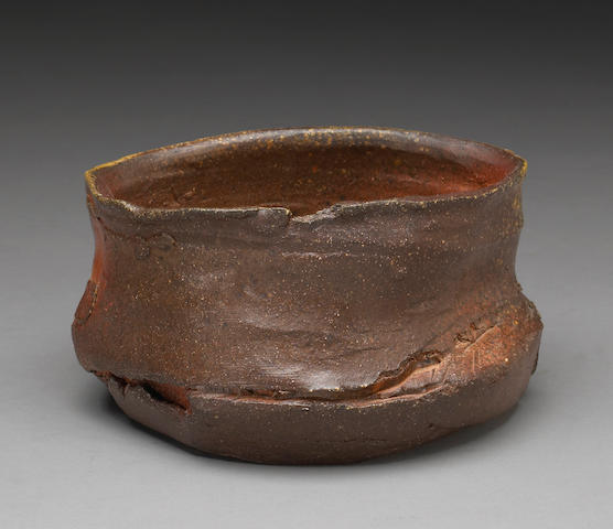 Peter Voulkos (American, 1924-2002) Untitled Tea Bowl, 1993 (CR1090-W) diameter 8in (20.5cm) height 5in (13cm)