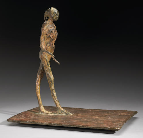 Nathan Oliveira, Woman walking, sculpture