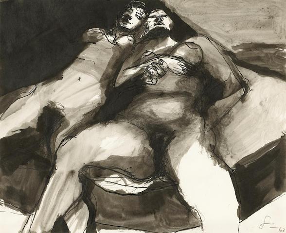Frank Lobdell (American, b.1921) Figure Drawing Series No. 10, 1963 14 x 17in (35.5 x 43cm)