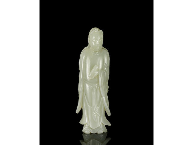 A white jade study of an scholar 18th Century