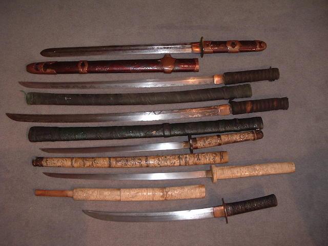 Six Japanese swords