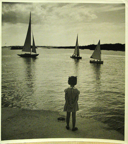 Toni Frisell (American, 1907-1988); Images of Children at the Beach; (4)