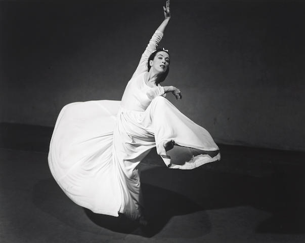 Barbara Morgan (American, 1900-1992); Martha Graham-Letter to the World (Swirl);