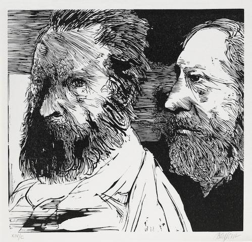 Leonard Baskin Portraits of Men; (4)