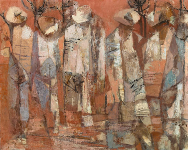Richard Haines (American, 1906-1984) Workers 24 x 30in (61 x 76cm)