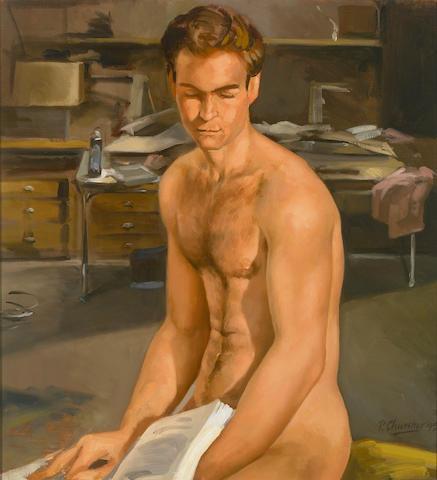 Peter Churcher (Australian, b.1964) The Model Reading, 1995 24 x 22in (61 x 56cm)